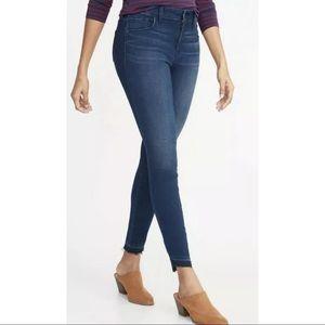 Old Navy 18 Tall Rockstar Mid-Rise Jeans Raw Hems